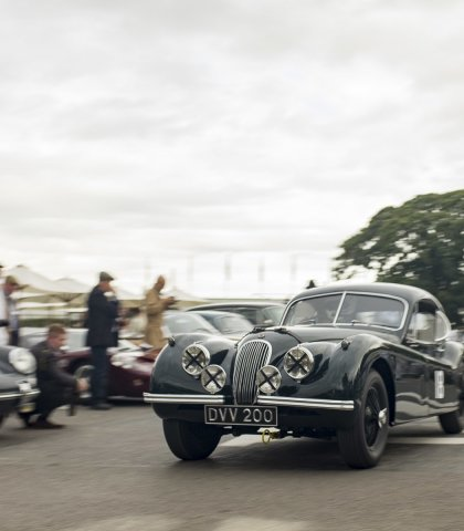 Xk120 Heading Out To Race Cg
