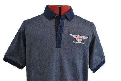 New Blue Polo Mens Top Front