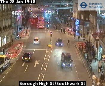Live TFL Borough High Street Traffic Weather Web Cam Southwark