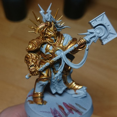 Colse up of the gold finish