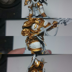 Porcelin finish on the armour