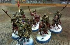 Wight King with Kingsguard