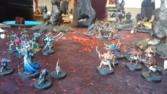 Daemons and Arcanites of Tzeentch vs. Stormcast Eternals
