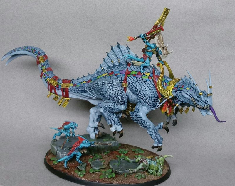 Troglodon w/ Skink Oracle