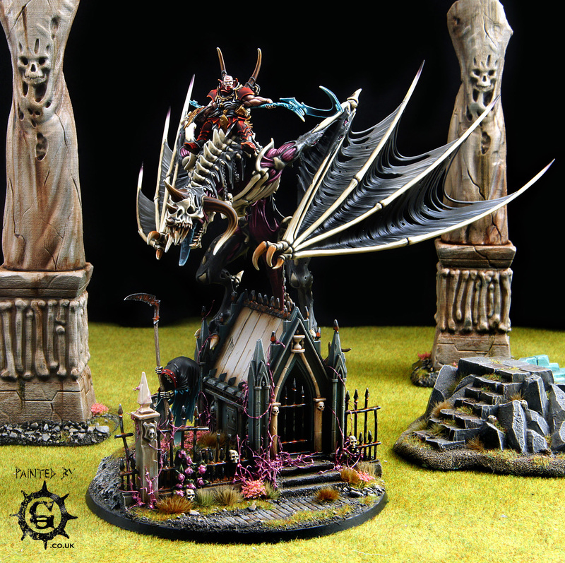 Omulous Dracoth - Vampire Lord on Zombie Dragon