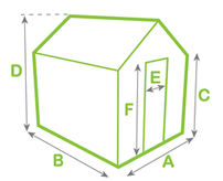 Greenhouse dimensions diagram