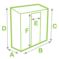 Lean-to greenhouse dimensions diagram