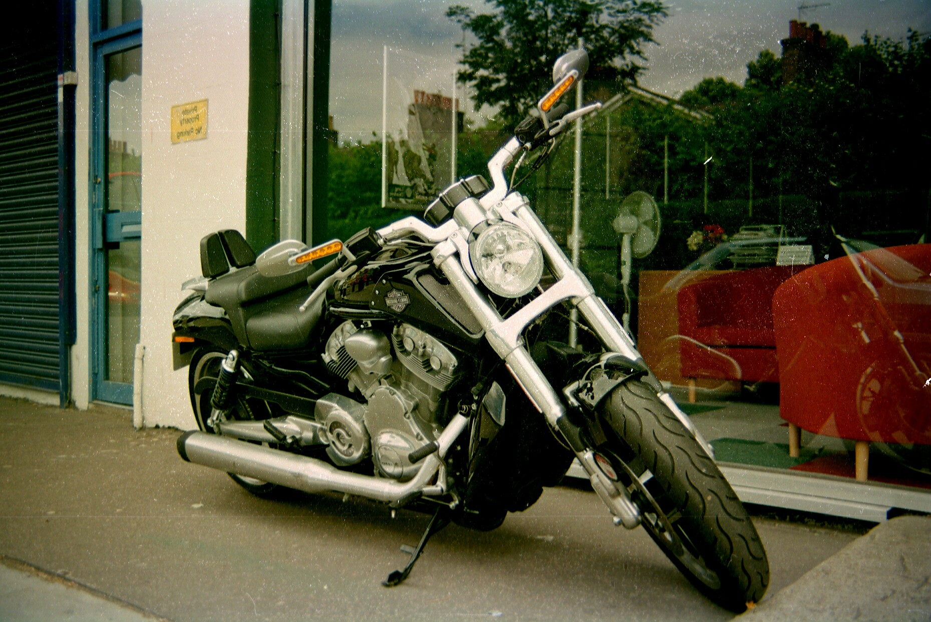 motorcycle, taken with Centon DF-300, Vivitar 35-105mm, Tudor film.