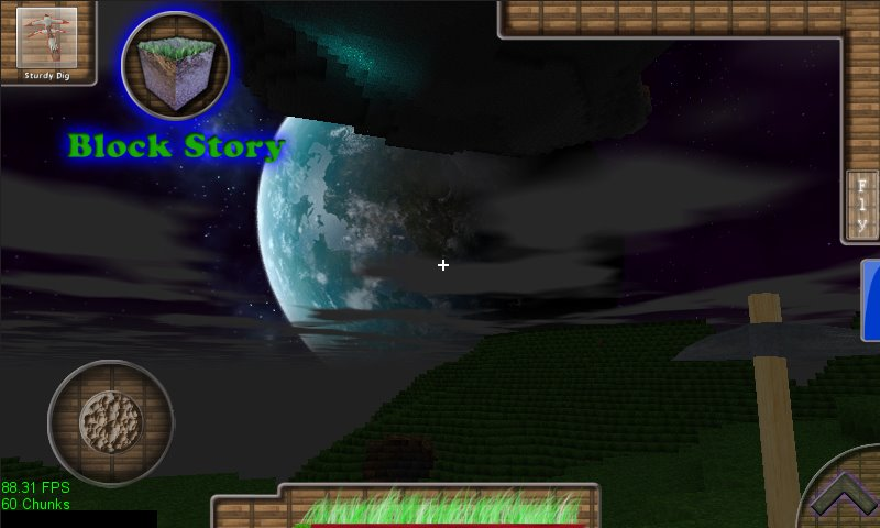 Летающий остров и большая планета Block Story