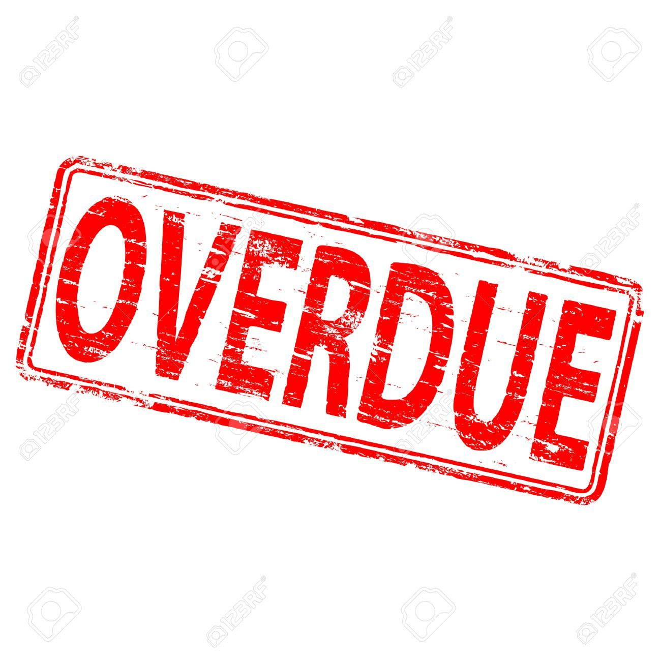 8898156 overdue rubber stamp