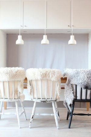 Sheepskin Throws As Chair Covers