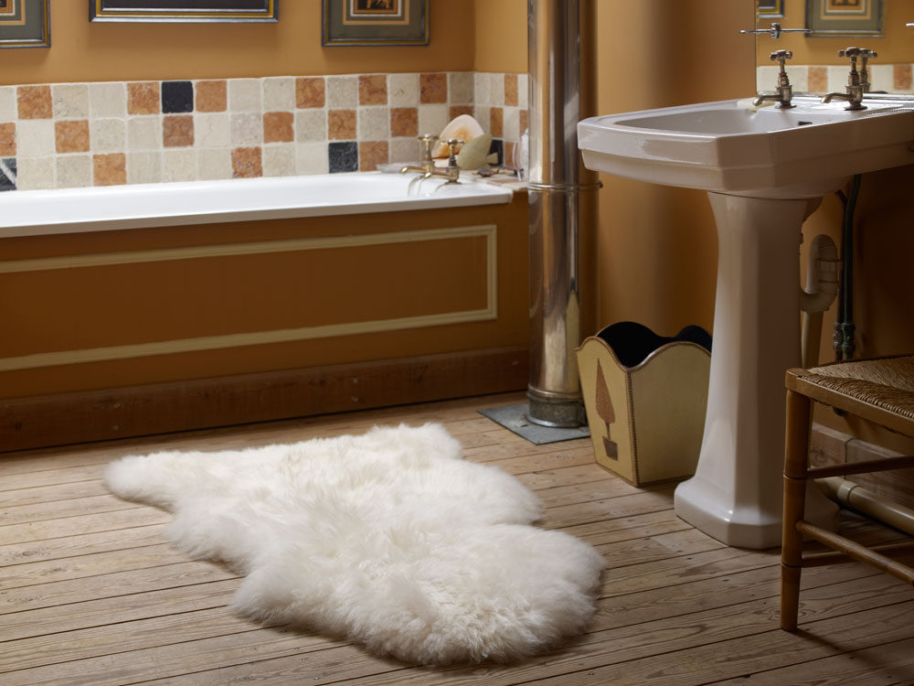 natural cream sheepskin rug