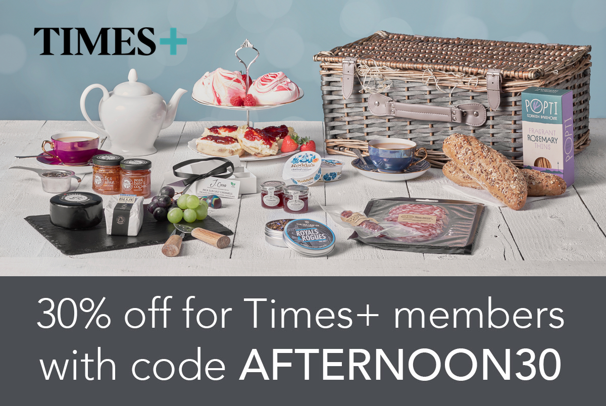 30% off for Times+ members with code AFTERNOON30