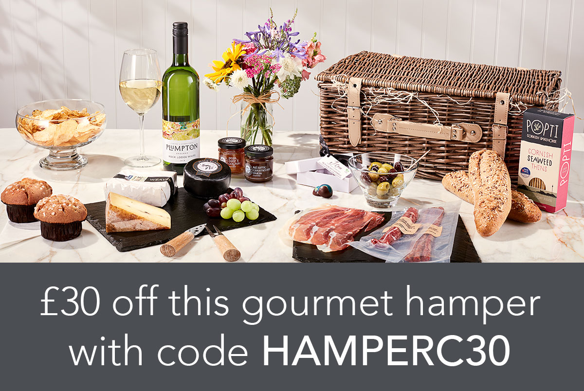 £30 off this gourmet hamper with code HAMPERC30