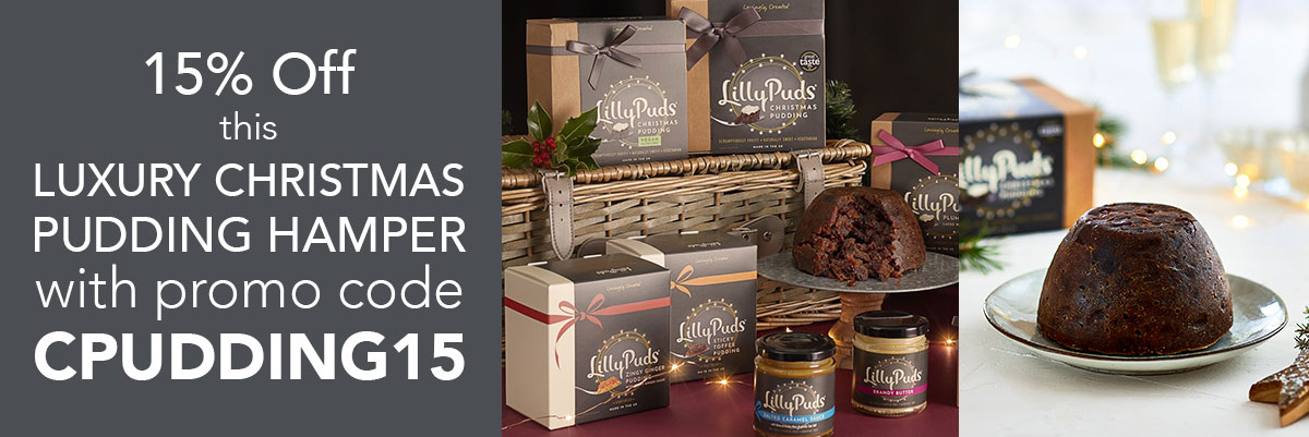 15% off Luxury Christmas Pudding Hamper with promo code CPUDDING15