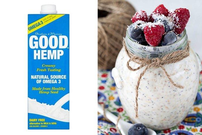 Good hemp overnight oats