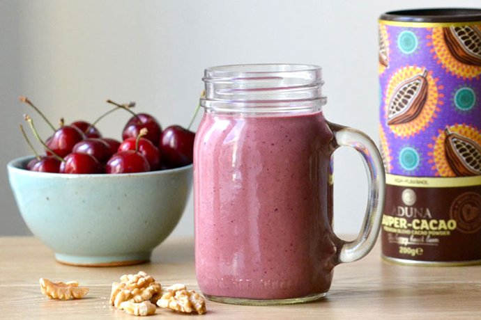 Cherry, Walnut and Super Cacao Smoothie