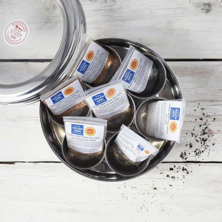 Halen Mon Flavoured Sea Salts Gift Collection with 7 Flavoured Salts & Storage Tin