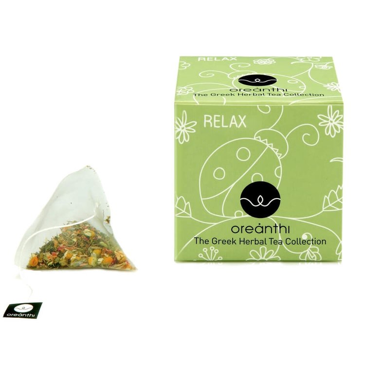 'Relax' Greek Herbal Tea with Chamomile, Lavender & Passion Flower 15 Tea Bags