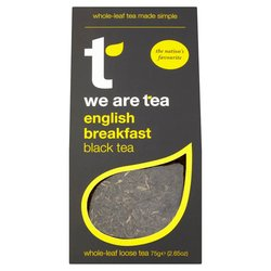 English Breakfast Loose Leaf Black Tea 75g by We Are Tea