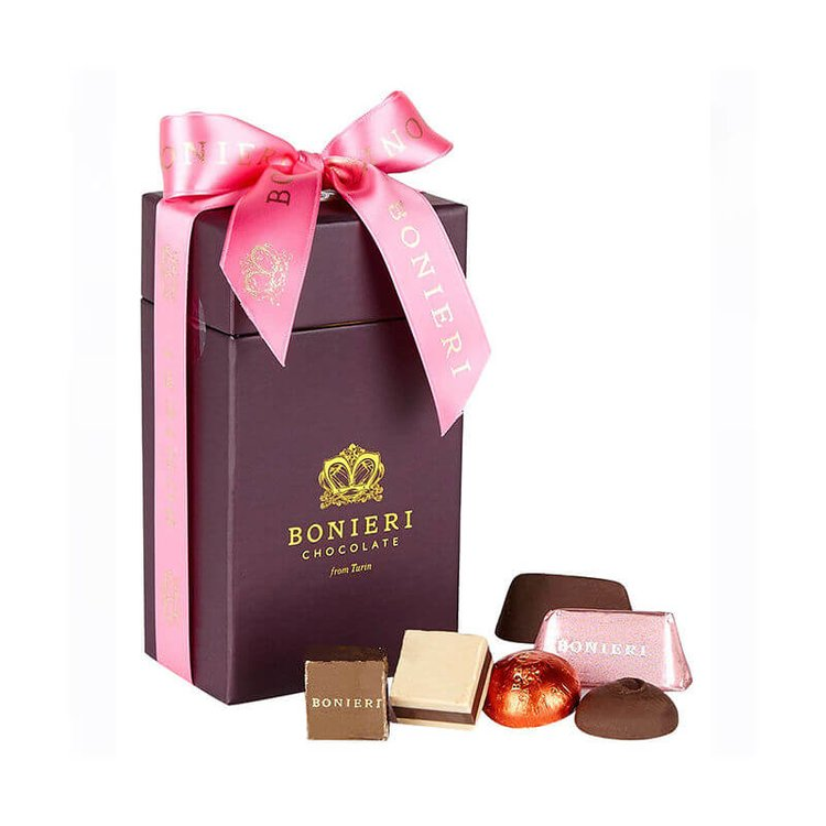 'Bella Box Caffe' Deluxe Chocolate Gift Box with Italian Gianduja & Coffee Pralines 170g