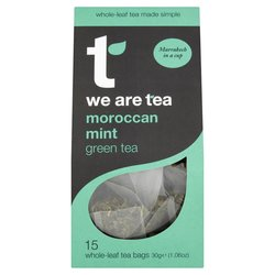 Moroccan Mint Green Tea 15 Tea Bags by We Are Tea