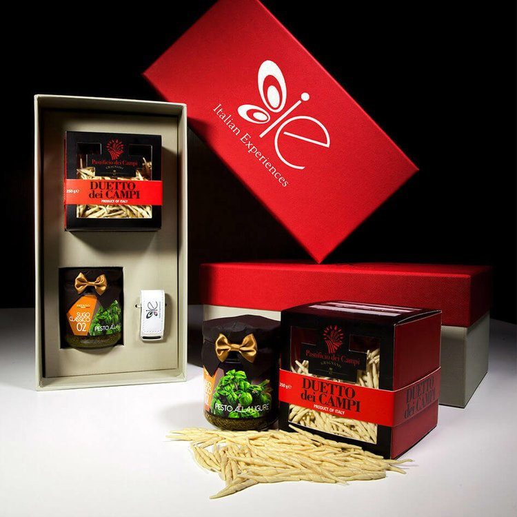 Basil Pesto & Trofie Pasta Italian Meal for 2-3 Gift Set