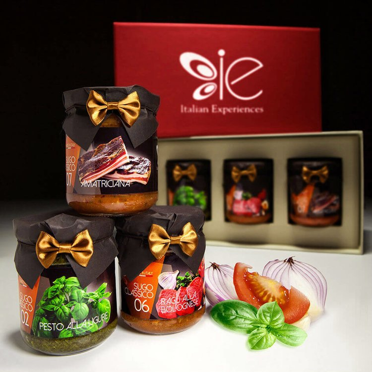 3 Classic Italian Sauce Gift Set (Bolognese, Amatriciana & Pesto)