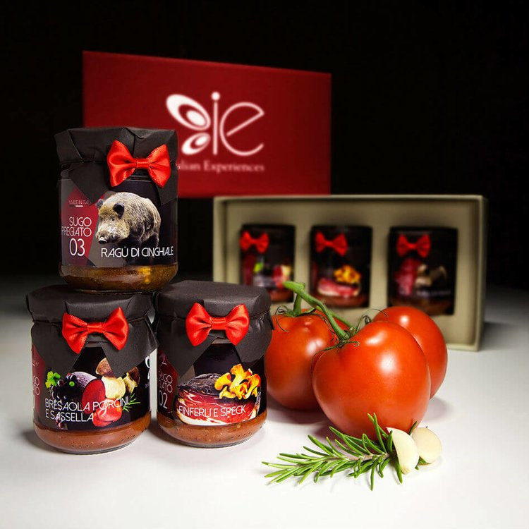 3 Special Italian Sauces Gift Selection (Inc. Bresaola, Porcini Mushroom and Sassella Red Wine Sauce)