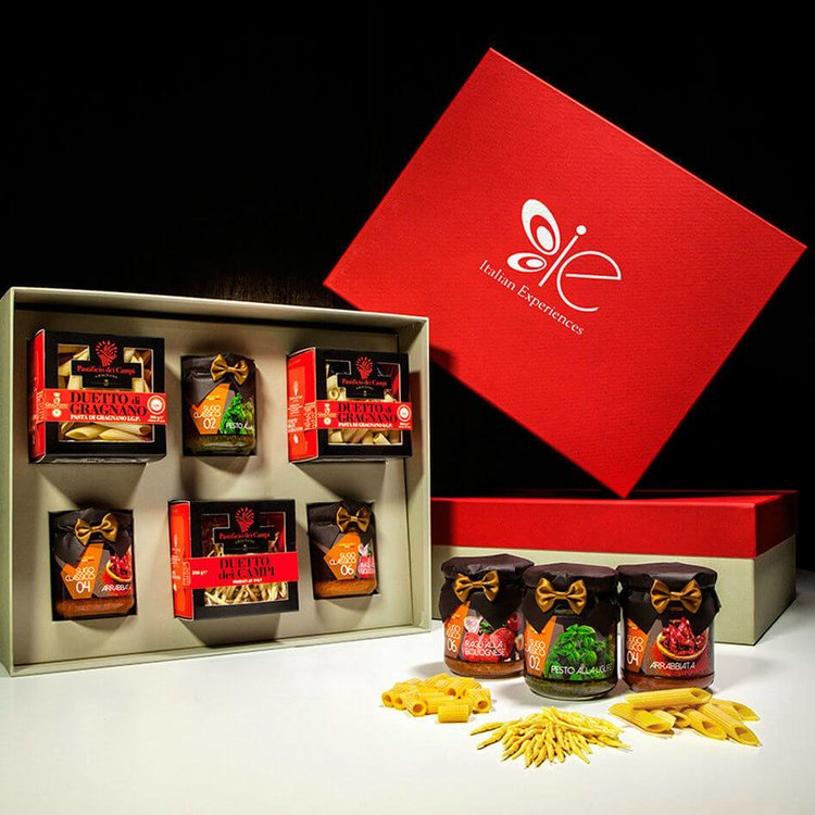 Trio of Italian Pasta with Sauces (Tubetti, Penne & Trofie) Gift Set