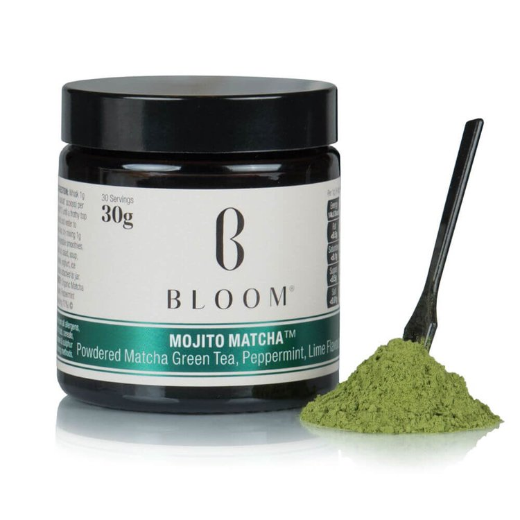 Japanese 'Mojito' Matcha Green Tea Powder with Peppermint & Lime 30g (30 Servings)