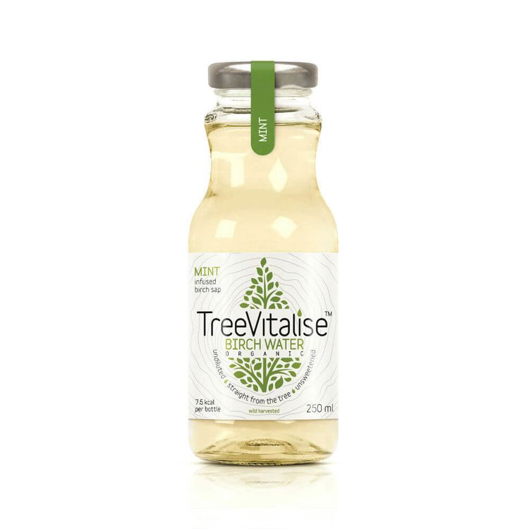 15 x Mint Organic Birch Water 250ml by TreeVitalise (Tree Sap Soft Drink Inc. Manganese)