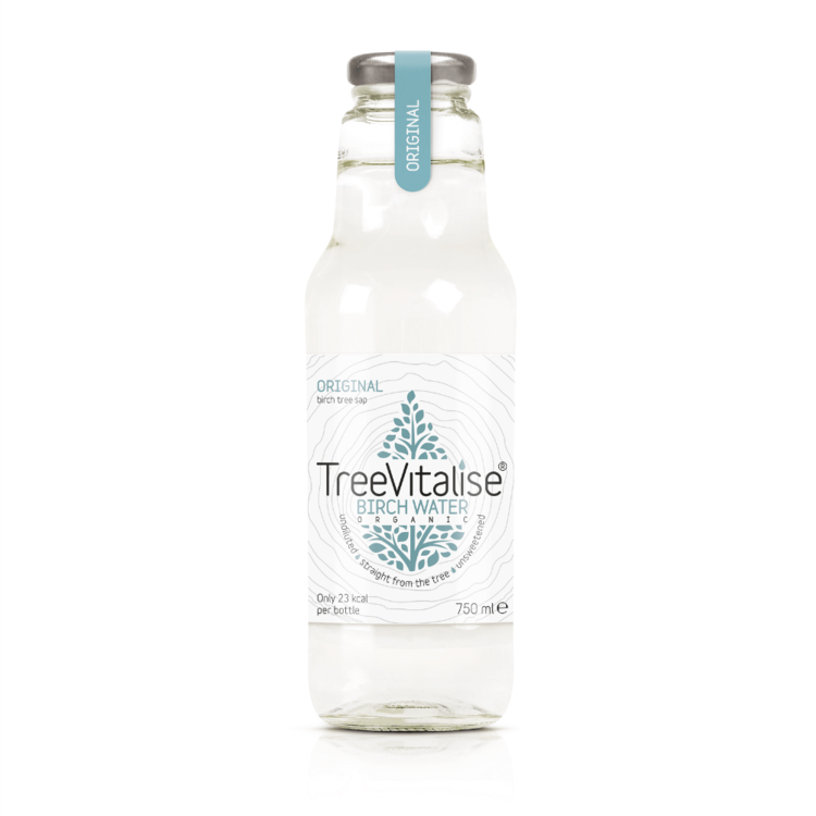 6 x Original Organic Birch Water 750ml by TreeVitalise (Tree Sap Soft Drink - Source of Manganese)