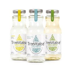 15 x Organic Birch Water 250ml by TreeVitalise (Lemon, Mint, Original - 3 of each 250ml)