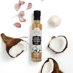Organic Coconut Vinegar with Garlic 250ml