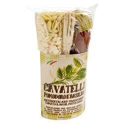 Cavatelli with Tomato & Basil Pasta Sauce Gift Kit With Passata, Basil & Wooden Spoon