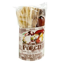 Fettuccine & Porcini Mushroom Pasta Sauce Gift Set Kit With Wooden Spoon