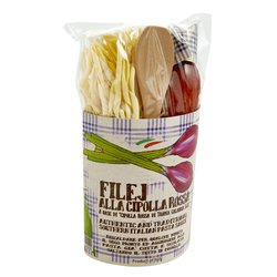 Fileja Pasta with Tropea Onion Sauce Pasta Gift Kit With Wooden Spoon