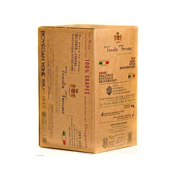Organic Fine Italian White Vegan Wine 10 Litres Box (= 13.3 Bottles) 12.5% Vol. (Sulphite Free, Natural)