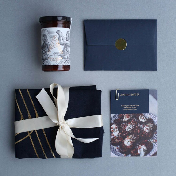 Pomegranate Ketchup Gift Box by Aphrodite's Food (Inc. 1 Jar, Canvas Bag & Recipe Cards)