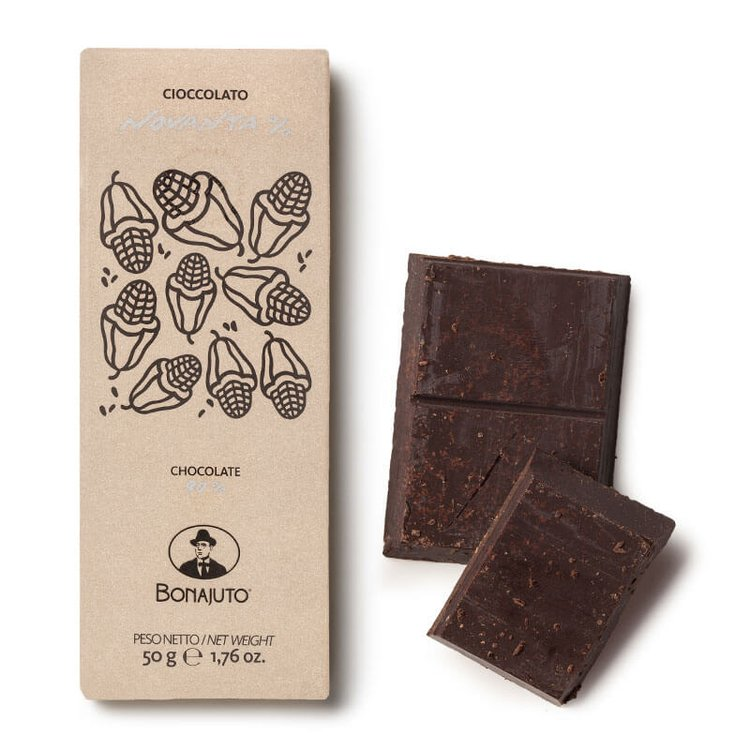 2 x 90% Pure Dark Chocolate 50g By Bonajuto From Modica, Italy (Naturally Vegan)
