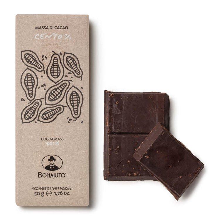 100% Pure Dark Chocolate 2 X 50g Bonajuto Packaging and Unwrapped