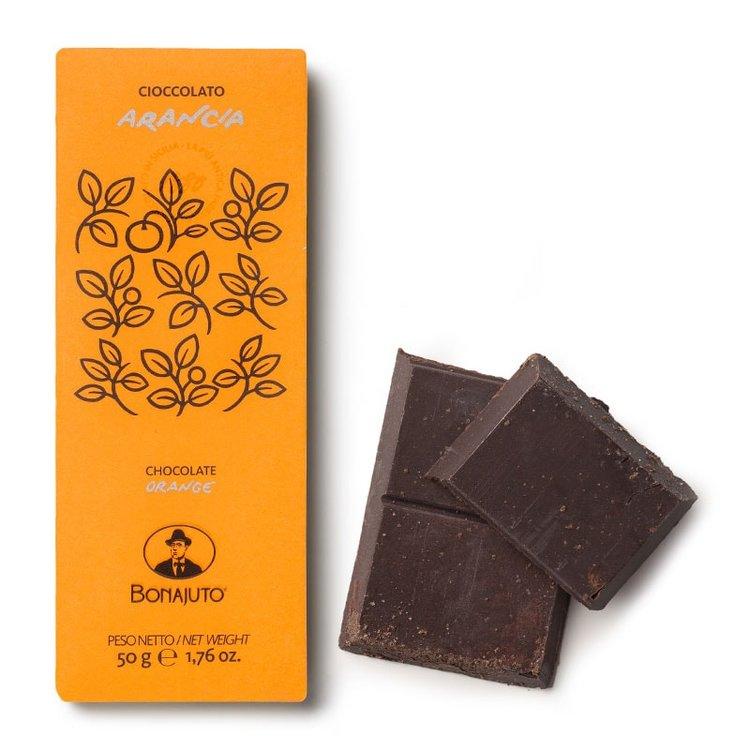 2 x Pure Dark Chocolate with Orange By Bonajuto From Modica, Italy (Naturally Vegan)