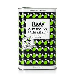 Italian Extra Virgin Olive Oil Tin 500ml - First Cold Pressed (For Drizzling, Dipping & Roasting)