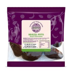 Organic Dark Chocolate Rainforest Brazil Nuts 80g