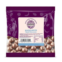 Organic Dark Chocolate Hazelnuts 70g