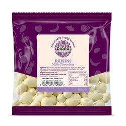 Organic Yoghurt & White Chocolate Raisins 60g