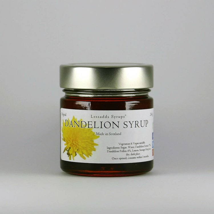 Dandelion Syrup 245g (For Desserts, Drinks, Pancakes, Porridge & Baking)