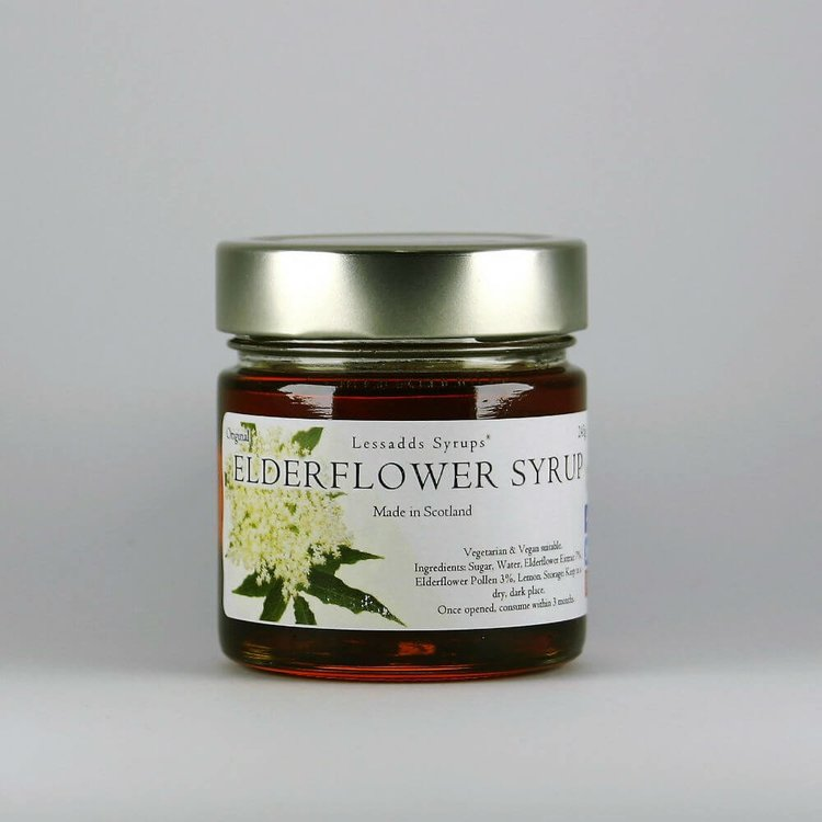 Elderflower Syrup 200g (For Desserts, Drinks, Pancakes, Porridge & Baking)