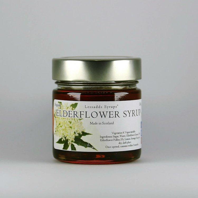 Elderflower Syrup 245g (For Desserts, Drinks, Pancakes, Porridge & Baking)